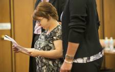 Michelle Knight addresses the court during the trial of Ariel Castro on August 1, 2013 in Cleveland, Ohio. Castro was in court awating his sentence for abducting three women, including Knight, from 2002 and 2004 when they were between 14 and 21 years old. The women escaped this past May. Picture: AFP.
