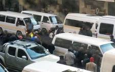 FILE: Taxi violence broke out in the Pretoria CBD on 12 July 2013. Four people were assaulted and several shots were fired during a dispute between associations over taxi routes. Picture: via Twitter @_MotsoB
