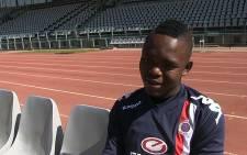 Supersport United striker Lerato Manzini chats to EWN after his training session in Pretoria. Picture: Reinart Toerien/EWN
