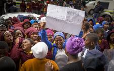Khayelitsha learners marched to the Western Cape Education Department's offices in Cape Town on 9 September, 2016. Picture: Aletta Harrison/EWN.