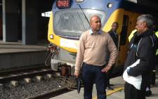 Western Cape Metrorail regional manager Richard Walker (L). Picvture: Lauren Isaacs/EWN.