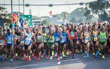 Runners race off at the start of the 2018 CT12 OneRun event. Picture: Supplied