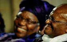 FILE: Archbishop Emeritus Desmond Tutu and his wife Leah. Picture: AFP.