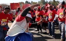 Eskom workers demand better wages. Picture: Sebabatso Mosamo/EWN