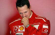 FILE: German Formula One world champion Michael Schumacher in January 2014. Picture: AFP