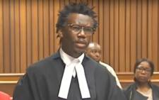 A screengrab of Advocate Thembeka Ngcukaitobi representing the EFF in the Equality Court on 6 August 2019.