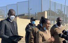 Justice Minister Ronald Lamola addressed media in front of the Estcourt Correctional Centre on 8 July 2021 where former President Jacob Zuma is currently incarcerated. Picture: Justice Department.
