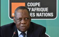 Confederation of African Football president Issa Hayatou will assume the role of Fifa's acting president. Picture: AFP.