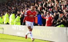 The Reds led at the break thanks to a goal from Memphis Depay. Picture: Twitter @ManUtd.