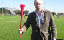London Mayor Boris Johnson on a visit to Cape Town during the 2010 FIFA World Cup.