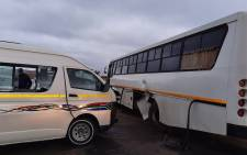 Taxi crashes into bus leaving fifteen injured in Eikenhof. Picture: @_ArriveAlive/Twitter