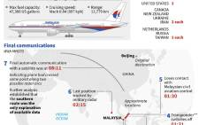 Graphic on the search for Malaysia Airlines MH370, which went missing more than four years go with 239 people on board. Picture: AFP