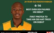 Kagiso Rabada claimed a hat-trick on his ODI debut when the Proteas took on Bangladesh.