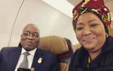 President Jacob Zuma and first lady Thobeka Madiba-Zuma. Picture: Instagram.com