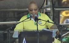FILE: President Jacob Zuma at the ANC's 104th birthday celebration at Royal Bafokeng Stadium in Rustenburg on 9 January 2016.