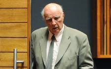 Bob Hewitt at the Palm Ridge magistrates court on 23 March 2015. Picture: AFP.