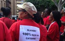 FILE. Striking Nehawu workers outside Parliament. Picture: Rahima Essop/EWN.