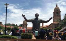 The nine-metre tall statue of former president Nelson Mandela unveiled on 13 December 2013. Picture: Reinart Toerien/EWN