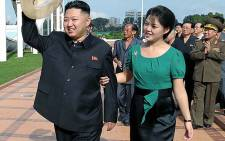 North Korean leader Kim Jong-Un and his wife, Ri Sol-ju. Picture: AFP.