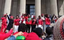 Economic Freedom Fighters members celebrate their victory in the Wits University SRC elections. Picture: @LacosteDave