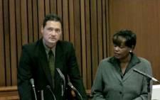 Warrant Officer Adriaan Maritz testifies during the Oscar Pistorius murder trial.