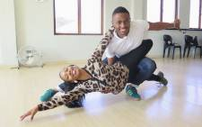 Nkuli Tshirumbula and his professional dance partner Nombulelo Hlathi in the studio. Picture: Louise McAuliffe