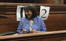 Patricia de Lille in the Western Cape High Court on 15 May 2018. Picture: Monique Mortlock/EWN