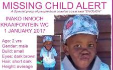 Picture: Missing Minors The Pink Ladies Organization/Facebook