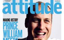 Prince William will appear on the July cover of Attitude speaking out against homophobia, the first time a British royal has been photographed for the front of a gay publication. Picture: @AttitudeMag.