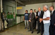 FILE: Brazil's Minister of Justice, Alexandre de Moraes (C) during a visit to the Anisio Jobim Penitentiary Complex (Compaj) the day after the prison was the scene of the rebellion that killed 56 prisoners in Manaus, Amazonas state. Picture: AFP.