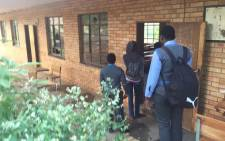 Pupils told to return home at one of the torched schools in Vuwani as learning will not commence today. Kgothatso Mokgale/EWN.