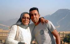 Nazeer Mohammed with his mother Shaieda. Picture: Supplied.