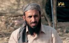 This file photo shows a still frame grab taken on April 16, 2014 from a video released on March 29, 2014 by Al-Malahem Media, the media arm of Al-Qaeda in the Arabian Peninsula (AQAP), of AQAP chief Nasir al-Wuhayshi allegedly addressing scores of jihadists at an undisclosed location in Yemen. US officials are reportedly working to confirm claims that Al-Qaeda's top leader in Yemen, Nasir al-Wuhayshi, was killed in a CIA drone strike last week, as the country's warring factions prepare for a second day of peace talks in Geneva on June 16, 2015. Picture: AFP