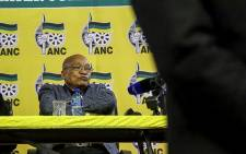 President Jacob Zuma addresses ANC members in the Eldorado community hall in Eldorado Park as part of the ruling party's campaign trail on 30 June 2016. Picture: Reinart Toerien/EWN.