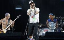 Singer Anthony Kiedis of the US band Red Hot Chili Peppers performs on stage on June 30, 2012 at the Stade de France in Saint-Denis, north of Paris. Picture: AFP.