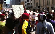 Cape Town shack dwellers protest for basic services on 1 October 2012. Picture: Rahima Essop/EWN