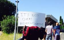 FILE: One of the demands protesting students have been calling for is an end to outsourcing at the university. Picture: Shamiela Fisher/EWN.