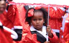 A young girl takes part in the annual Tweede Nuwe Jaar Minstrel Carnival in Cape Town on 2 January 2016. Picture: EWN.