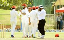 FILE: Afghanistan cricketers celebrate a wicket. Picture: @TheCricketAFG/Twitter