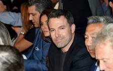 """Actor/director Ben Affleck poses ringside at """"Mayweather VS Pacquiao"""" presented by SHOWTIME PPV And HBO PPV at MGM Grand Garden Arena on 2 May 2015 in Las Vegas, Nevada. Picture: AFP"""