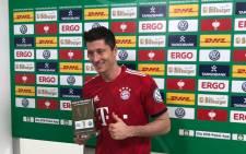 Robert Lewandowski. Picture: @FCBayern/Twitter