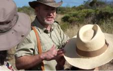 Game ranger addresses a group of tourists before losing his cool. Picture: YouTube screengrab