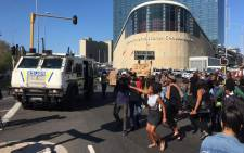 FILE: Protesters gathered outside the Cape Town International Convention Centre during a gender-based violence protest on 4 September 2019. Picture: EWN.