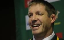Bakkies Botha addresses the media after the Springboks beat the World XV at Newlands on 7 June 2014. Picture: Aletta Gardner/EWN