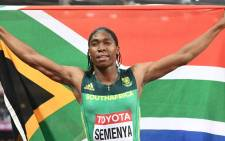 FILE: World 800m champion Caster Semenya. Picture: AFP