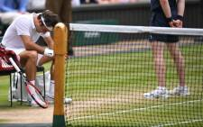 Roger Federer was beaten by Milos Raonic at the 2016 Wimbledon event. Picture: @Wimbledon