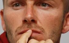 England footballer David Beckham. Picture: AFP