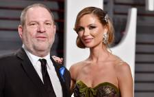 FILE: Harvey Weinstein and Georgina Chapman at the 2017 Vanity Fair Oscar party. Picture: AFP.