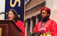 Economic Freedom Fighters' national spokesperson Mbuyiseni Ndlozi graduated with his PhD on Tuesday 5 December 2017. Picture: Thomas Holder/EWN