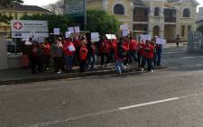 FILE: Striking lab workers say they've been waiting months for an increase. Picture: Xolani Koyana/EWN.